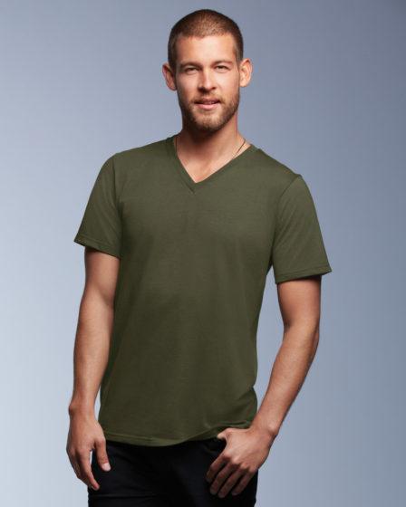 Anvil Adult V Neck Fashion T-Shirt