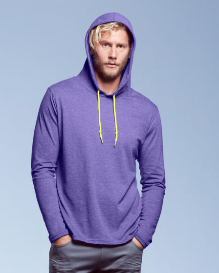 Anvil Adult L/SL Hooded T-Shirt